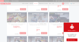 Illustration Support en Ligne de Ooredoo